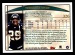 1998 Topps #326  Terrance Shaw  Back Thumbnail
