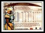 1998 Topps #249  LeRoy Butler  Back Thumbnail