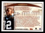 1998 Topps #253  Fred Lane  Back Thumbnail