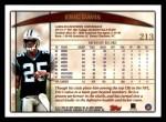 1998 Topps #213  Eric Davis  Back Thumbnail
