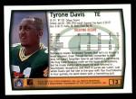 1999 Topps #13  Tyrone Davis  Back Thumbnail