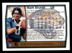 1999 Topps #75  Mark Brunell  Back Thumbnail