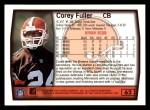 1999 Topps #62  Corey Fuller  Back Thumbnail