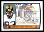 1999 Topps #24  Kevin Carter  Back Thumbnail
