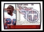 1999 Topps #112  Darryll Lewis  Back Thumbnail