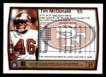 1999 Topps #39  Tim McDonald  Back Thumbnail