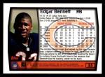 1999 Topps #35  Edgar Bennett  Back Thumbnail