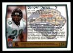 1999 Topps #54  Donovin Darius  Back Thumbnail