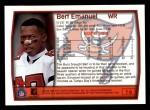 1999 Topps #16  Bert Emanuel  Back Thumbnail