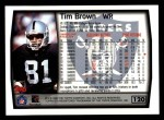 1999 Topps #120  Tim Brown  Back Thumbnail