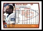1999 Topps #14  Warren Moon  Back Thumbnail