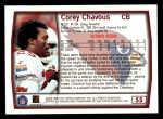 1999 Topps #55  Corey Chavous  Back Thumbnail