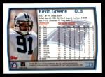 1999 Topps #173  Kevin Greene  Back Thumbnail