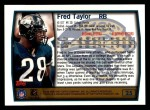 1999 Topps #25  Fred Taylor  Back Thumbnail