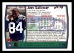 1999 Topps #140  Joey Galloway  Back Thumbnail