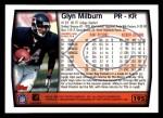 1999 Topps #195  Glyn Milburn  Back Thumbnail