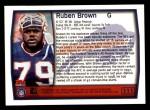 1999 Topps #111  Ruben Brown  Back Thumbnail