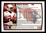 1999 Topps #144  Mario Bates  Back Thumbnail