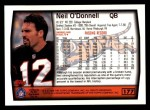 1999 Topps #177  Neil O'Donnell  Back Thumbnail