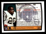 1999 Topps #65  Natrone Means  Back Thumbnail
