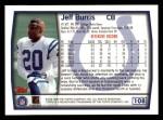 1999 Topps #108  Jeff Burris  Back Thumbnail