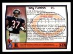 1999 Topps #163  Tony Parrish  Back Thumbnail