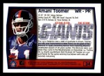 1999 Topps #34  Amani Toomer  Back Thumbnail