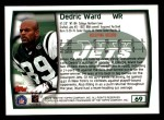 1999 Topps #69  Dedric Ward  Back Thumbnail