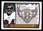 1999 Topps #106  Jermaine Lewis  Back Thumbnail