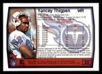 1999 Topps #32  Yancey Thigpen  Back Thumbnail
