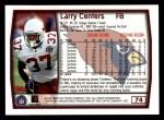 1999 Topps #74  Larry Centers  Back Thumbnail