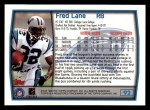 1999 Topps #92  Fred Lane  Back Thumbnail