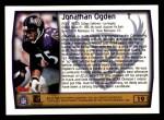 1999 Topps #19  Jonathan Ogden  Back Thumbnail