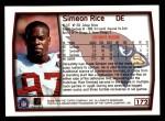 1999 Topps #172  Simeon Rice  Back Thumbnail