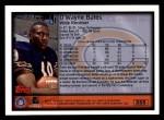 1999 Topps #355  D'Wayne Bates  Back Thumbnail
