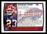 1999 Topps #260  Antowain Smith  Back Thumbnail