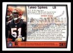 1999 Topps #281  Takeo Spikes  Back Thumbnail