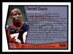 1999 Topps #323   -  Terrell Davis Season Highlights Back Thumbnail