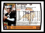 1999 Topps #278  Jeff George  Back Thumbnail