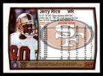 1999 Topps #269  Jerry Rice  Back Thumbnail
