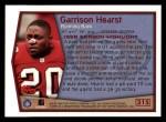 1999 Topps #315   -  Garrison Hearst Season Highlights Back Thumbnail
