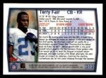 1999 Topps #313  Terry Fair  Back Thumbnail