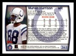 1999 Topps #263  Marvin Harrison  Back Thumbnail