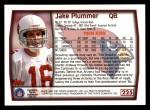 1999 Topps #225  Jake Plummer  Back Thumbnail