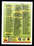 1999 Topps #357   Checklist Card Back Thumbnail