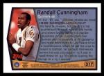 1999 Topps #317   -  Randall Cunningham Season Highlights Back Thumbnail