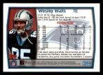 1999 Topps #294  Wesley Walls  Back Thumbnail