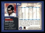 2000 Topps #104  Terance Mathis  Back Thumbnail