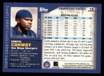 2000 Topps #16  Curtis Conway  Back Thumbnail