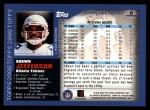 2000 Topps #6  Shawn Jefferson  Back Thumbnail